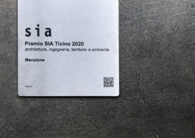 PREMIO SIA TICINO 2020